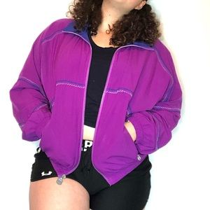 Kaelin Vintage Windbreaker Jacket Purple Blue